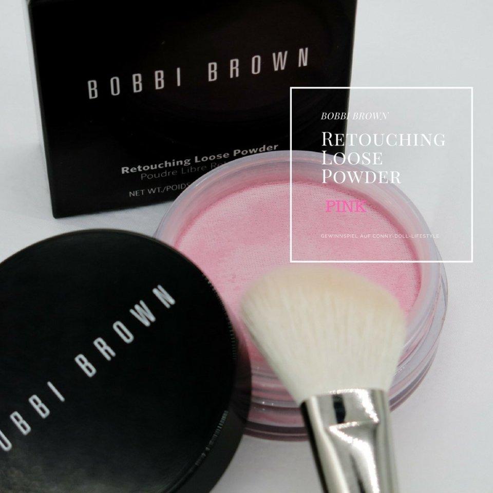 Conny-Doll-Lifestyle: Blog, Geburtstag, Bobbi Brown, Gewinnspiel, Retouching Loose Powder, Pink