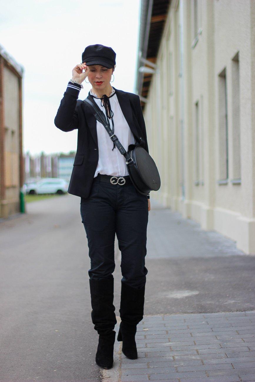 conny doll lifestyle: Fashionblog, schwarz-weiß, eleganter Look, edgy