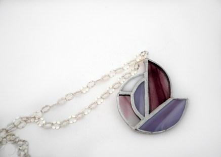 Collana argento e vetro Tiffany Conny's Kreations