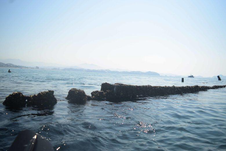 barco hundido en Manzanillo