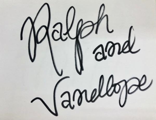 ラルフとヴァネロペのサイン