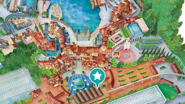 東京ディズニーシー・ゲストリレーション地図