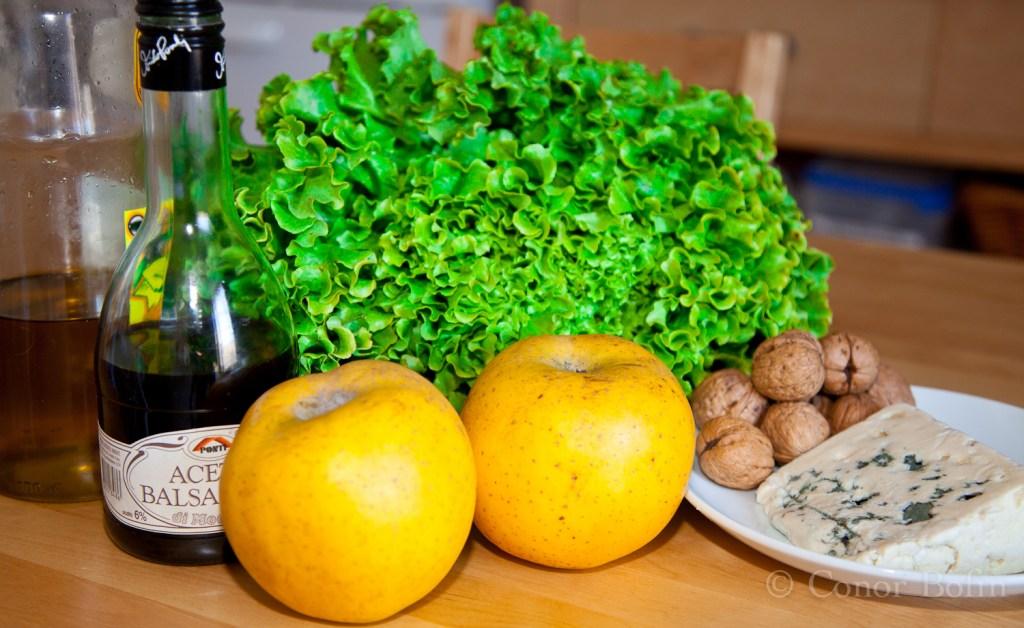 Apple walnut & blue cheese salad