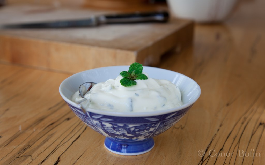 Greek yoghurt with mint