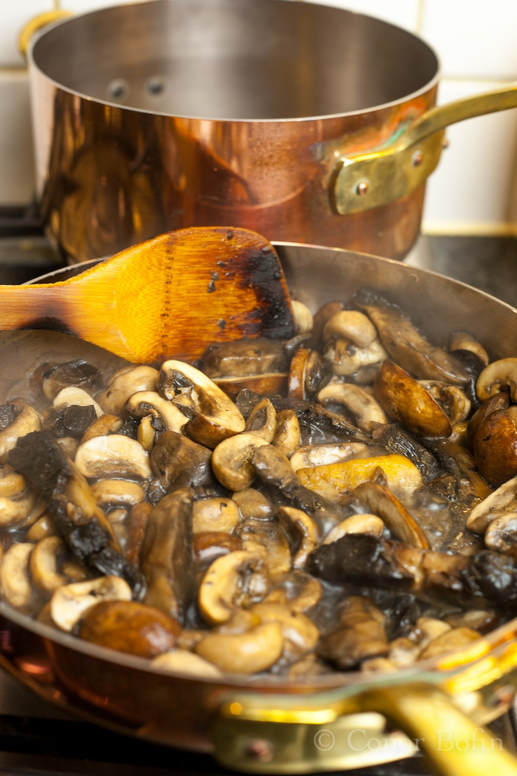 Mushrooms in a pan
