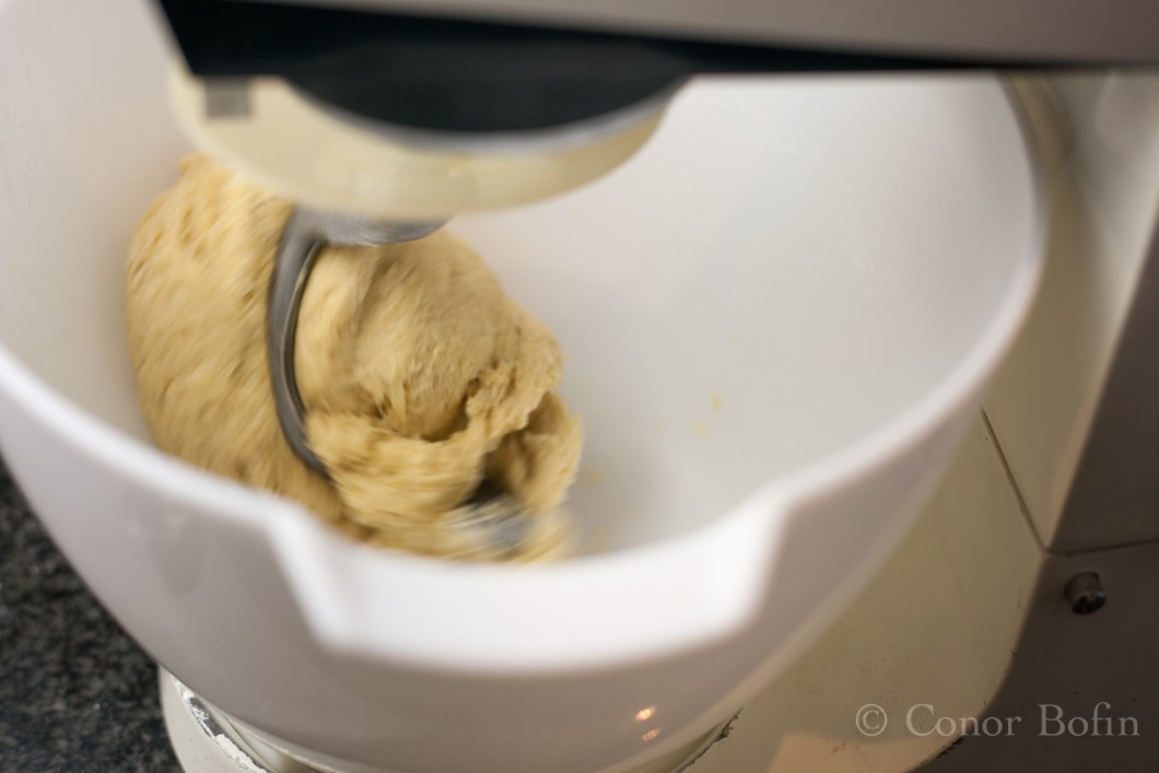 Pasta in a mixer