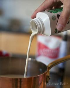 Cream pouring