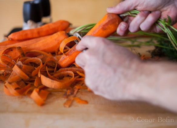 You will spend most of the available time peeling carrots.