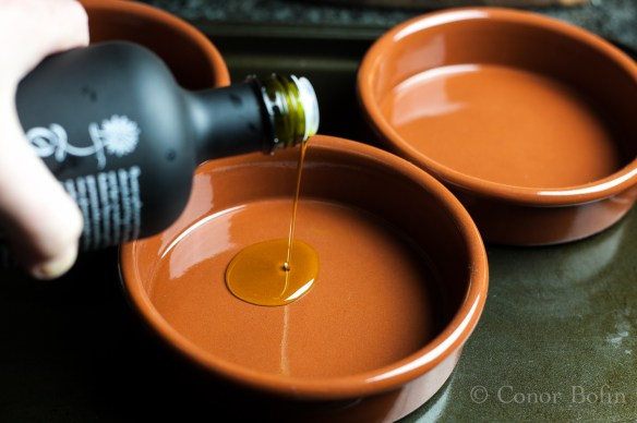 Beautiful olive oil is the basis of this Spanish classic. This oil is from Portugal BTW.