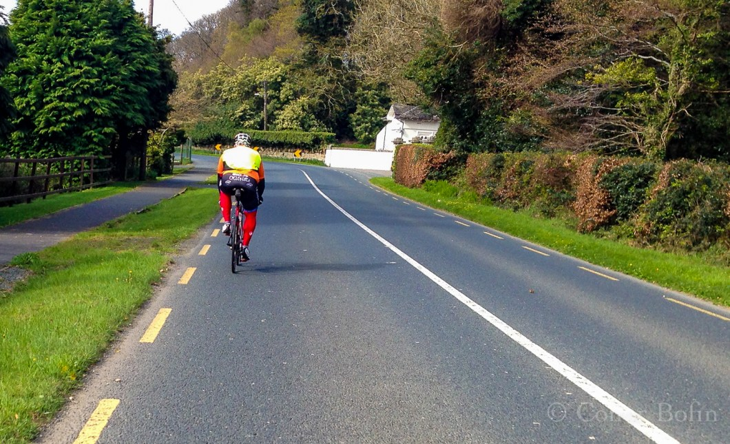 Rodrigo, heading into the distance as we train in the Wicklow Mountains.