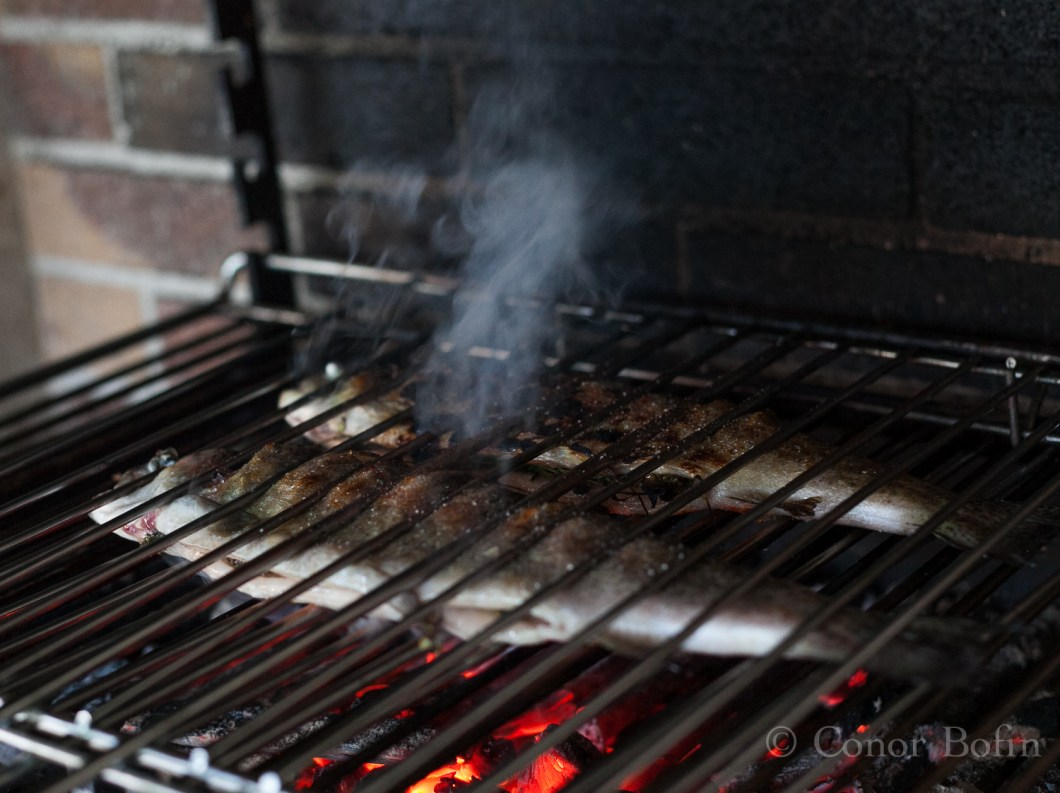 A charcoal barbecue adds great flavour. Even though they are a devil to keep clean.