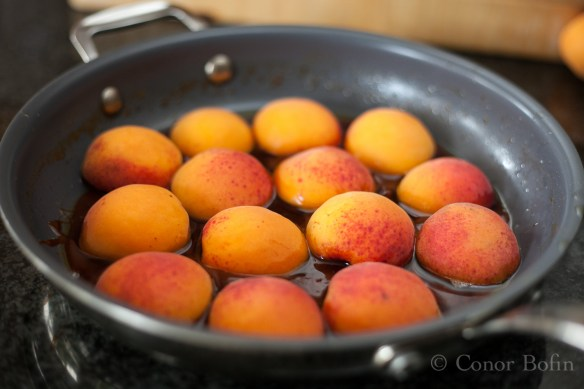 By my calculations, you will need seven apricots plus a couple to fill the gaps.
