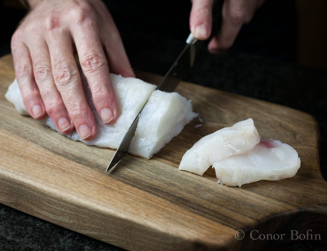 If you can't get really fresh fish, don't bother cooking this. In fact, that goes for pretty well all fish recipes.