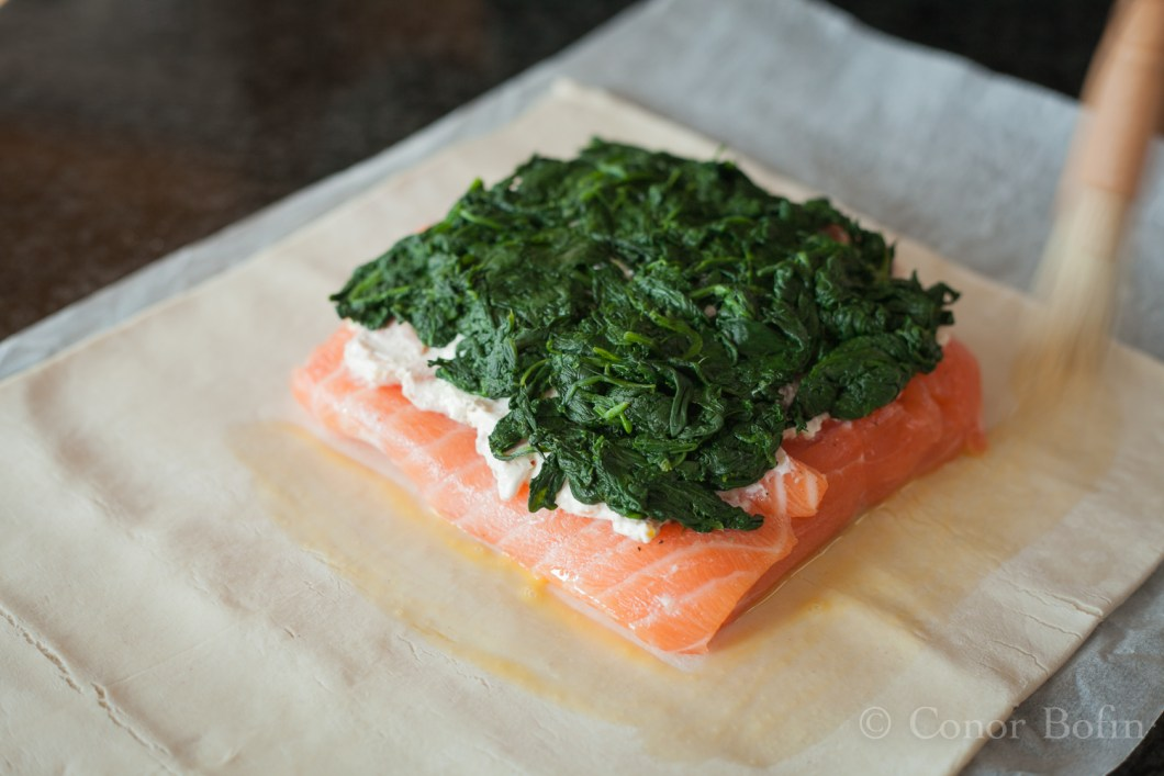 Sophisticated salmon, simple construction.