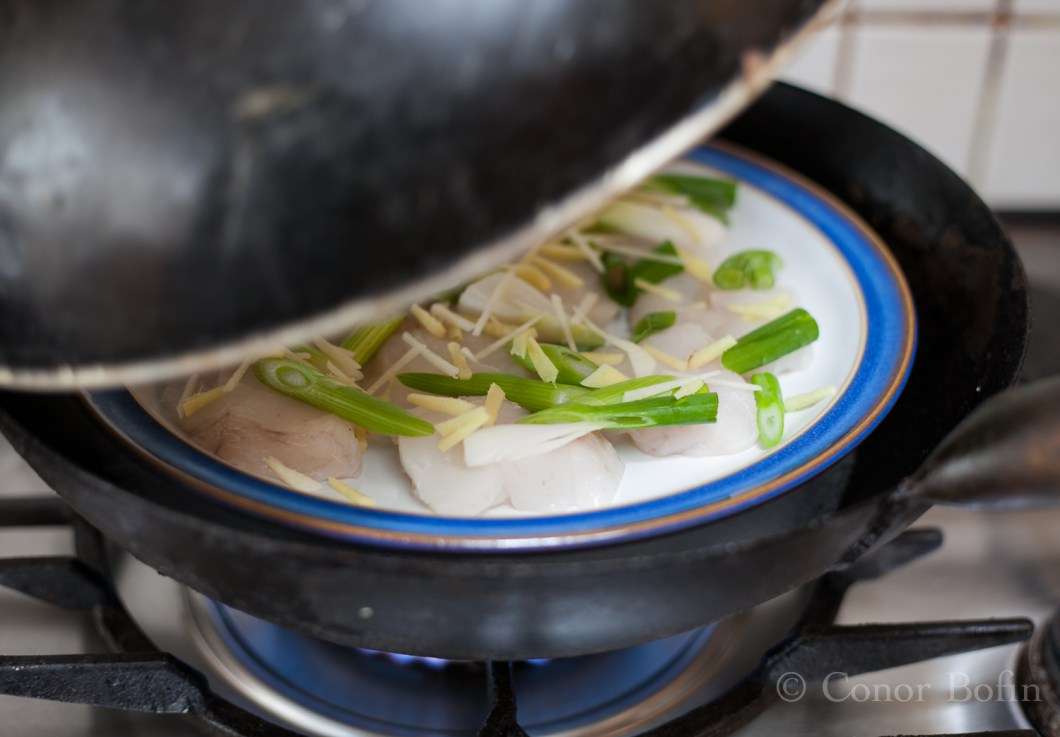 Once the lid goes on, the fish will take only 5 minutes to become perfectly cooked.