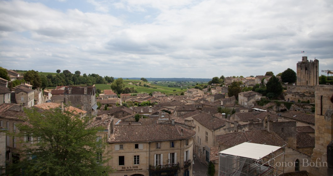Rooftops over St. Emilion. Should we go downtown and buy some wine?