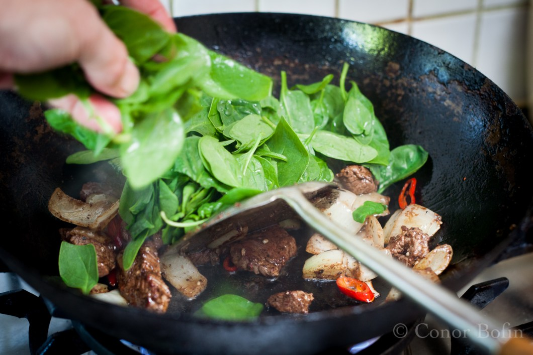 The spinach takes almost no cooking. Don't over-cook it.