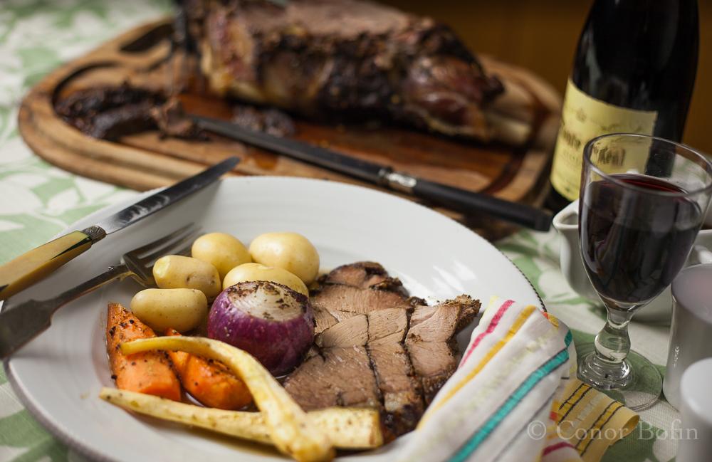 Truly tasty roast leg of goat. I encourage you to try it.
