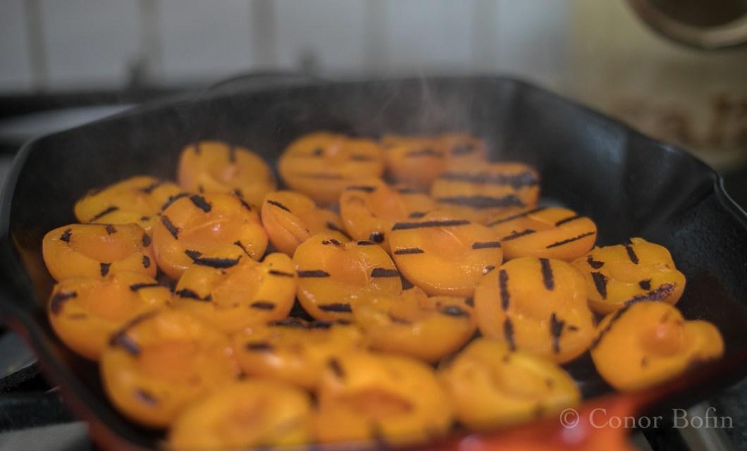 Fried apricots