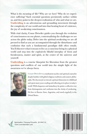 Back cover of Undividing: Returning to Oneness for the First Time