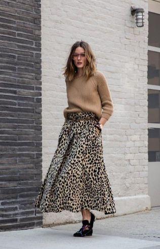 Leopard Print Skirt and Jumper