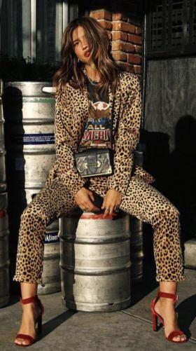 Leopard Print Head to Toe - Suit