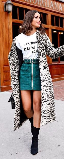 Leopard Print Trench Street Style