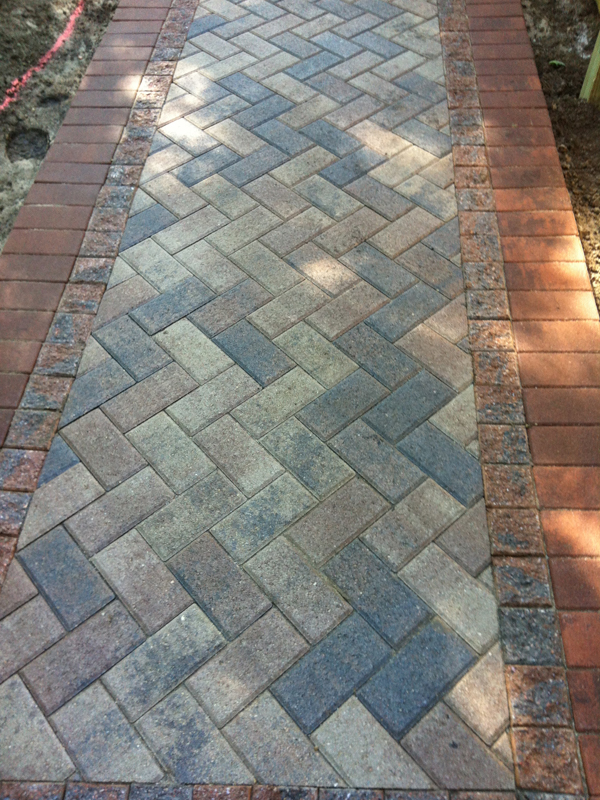 Brick And Natural Stone Paver Walkways Landscape Design
