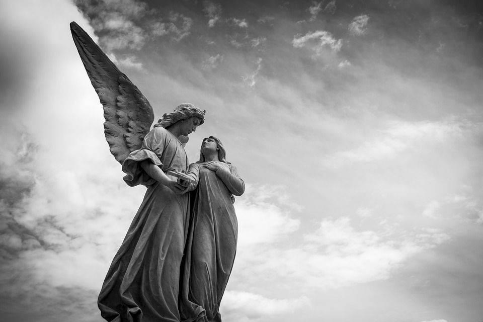 Cimetière, Paix, Marbre, Angel, Sculpture, Figure