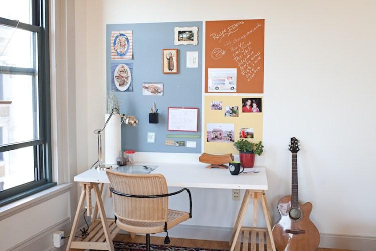 Magnetic Paint Desk Vision Board