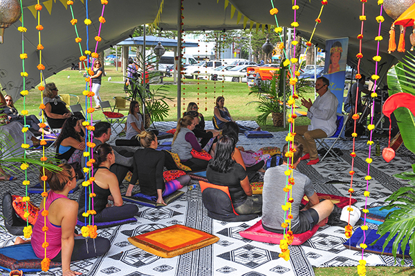 Meditation Tent at Gold Coast Yoga Day Festival 2016