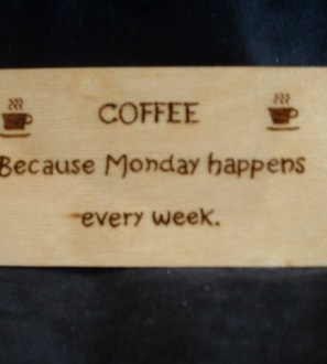 Monday coffee fridge magnet
