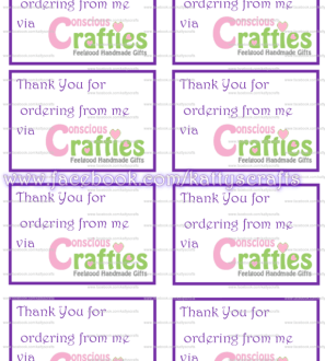 Conscious Crafties Compliment Slips