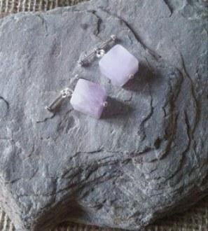 Lavender amethyst cufflinks