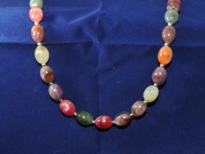 """""""Jelly bean"""" bead necklace"""