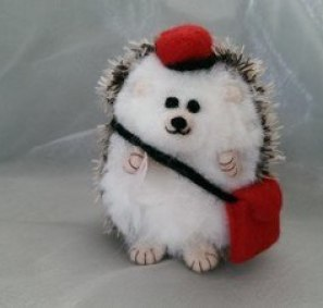 Needlefelt Miniature Hedgehog Postie Hog - Conscious Crafties