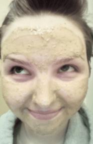 Alicia testing Anti-Inflammatory Healing Clay Mask