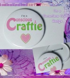 I'm a Conscious Craftie Logo Badge