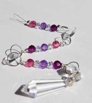 Pink and Purple Sun Catcher