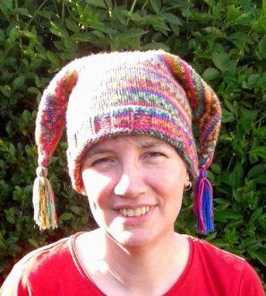 Handknitted jester hat