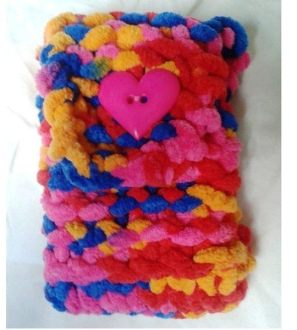 Handknitted mobile phone / tablet computer / e-reader case