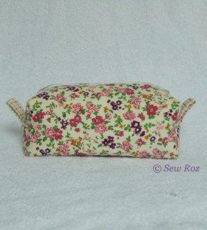 Fabric boxy zipped bag - conscious crafties