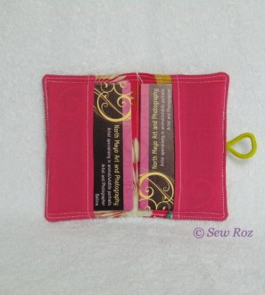Business card holder giftcard pouch