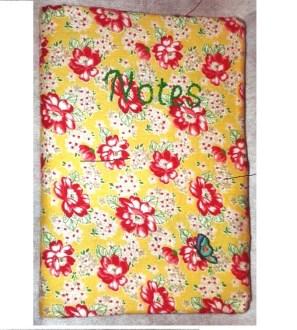 Handmade personalised notebook cover