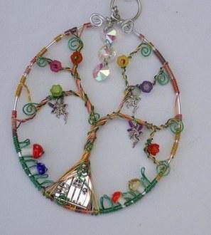 Fairy door dream scene sun catcher. Conscious Crafties is donating handmade crafts to support Christine Miserandino, author of the Spoon Theory.