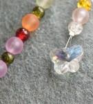 handmade crystal butterfly suncatcher