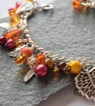 orange bracelet for sale handmade