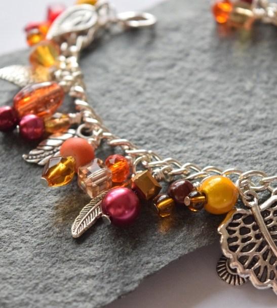 orange bracelet for sale handmade