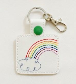 rainbowcloudkeyring