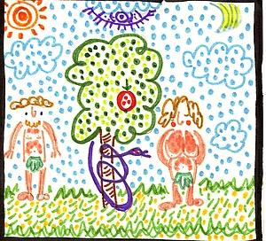 Adam en Eva, de allervroegste historie.